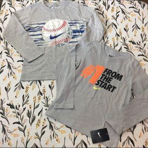 🖤 Lot of 2 youth boys Nike long sleeve shirts